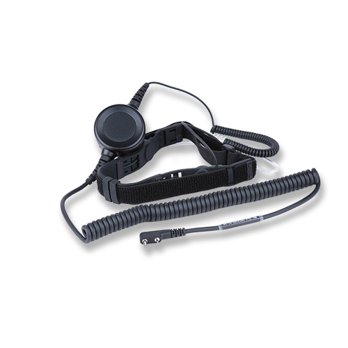 Throat microphone headset
