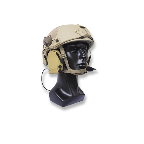 Hearing protection headset with FAST MOUNTING